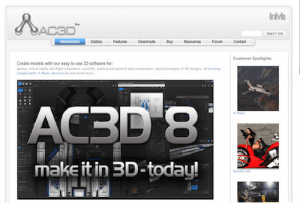 AC3D е софтуерно средство за 3D моделиране на бързи прототипи на 3D дизайни, 3D печат