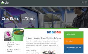 Creo Elements / Direct е софтуер за 3D моделиране на CAD за инженери на продукти