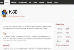 Софтуер за 3D CAD, K-3D е подходящ за 3D моделиране и анимация.