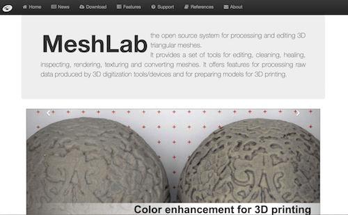 MeshLab е инструмент за 3D моделиране