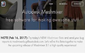 Meshmixer е най-модерният 3D софтуерен инструмент на Autodesk за работа с триъгълни мрежи
