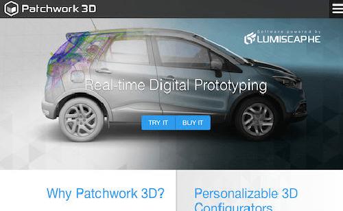 Софтуер за 3D CAD моделиране, задвижван от Lumiscaphe, Patchwork 3D трансформира CAD данни във фотореалистични 3D модели за индустриална употреба