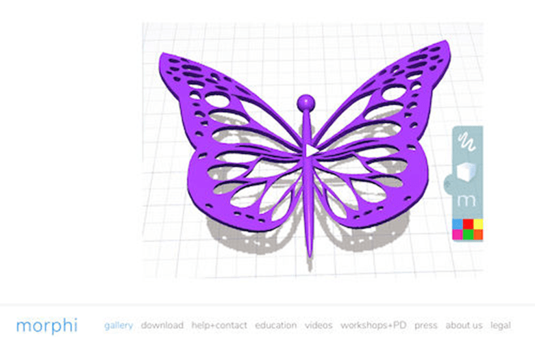 Morphi е приложение за 3D дизайн за 3D печат, разширена реалност, виртуална реалност, анимация със стоп-движение, визуализация и други