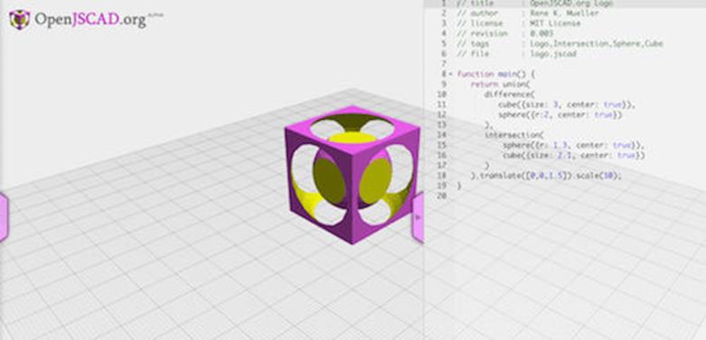 OpenJSCAD предоставя уникален подход на програмистите за разработване на 3D модели