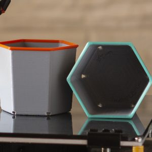 3D printed flower pots