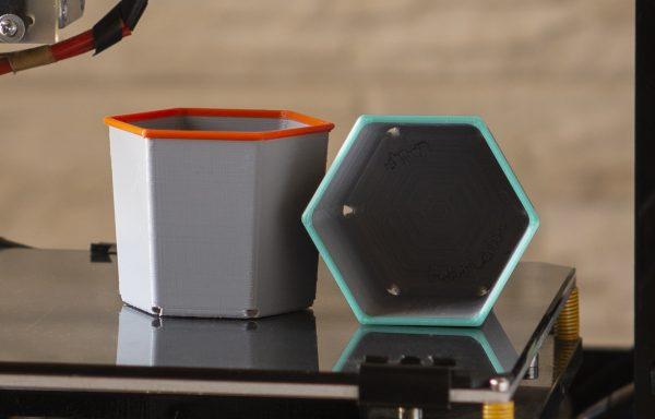 3D printed flower pots