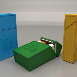 Cigarette box with a lid – 100mm