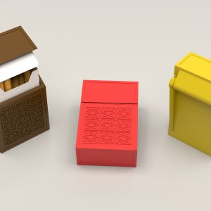 Cigarette box with a lid – 80mm