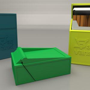 Кутия за цигари с капаче – 90мм